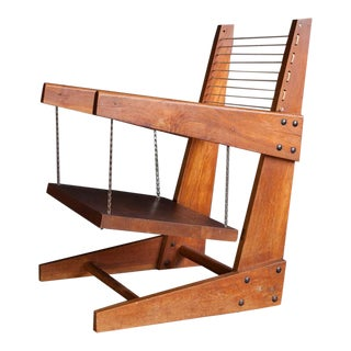 Modern Wooden Hanging Chair For Sale