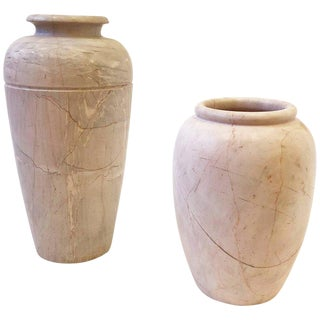 Pair of Italian Marble Vases For Sale