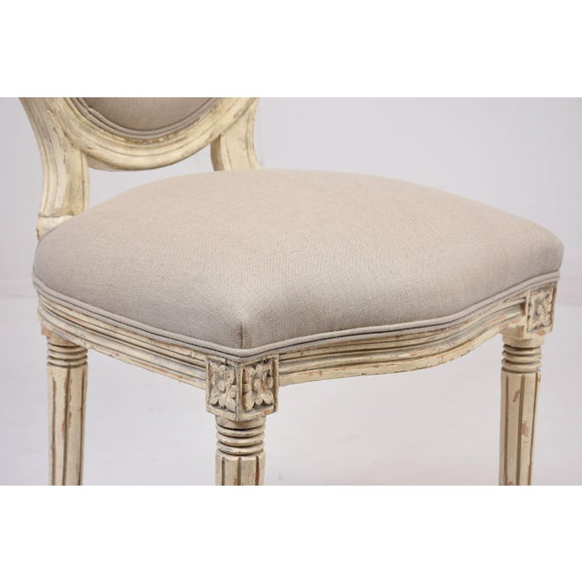 Antique French Louis XVI-Style Dining Chairs - Set of 6 - Image 9 of 10