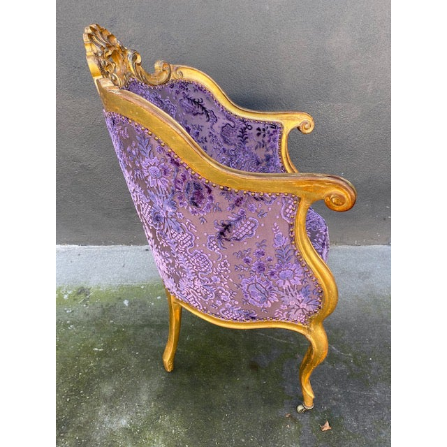Late 19th Century Vintage Italian Giltwood Chair For Sale In Los Angeles - Image 6 of 13