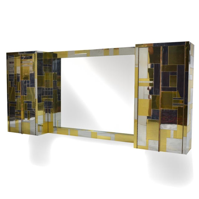 Directional Pair of Paul Evans Cityscape Wall-Mounted Cabinets For Sale - Image 4 of 7