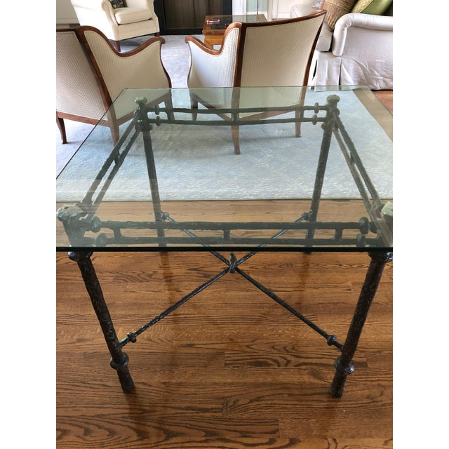 Brown 1960s Italian Cast Aluminum Dining Table For Sale - Image 8 of 13