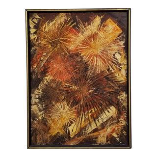 1970s Vintage Impasto Texture Painting by K. Gajdemski For Sale