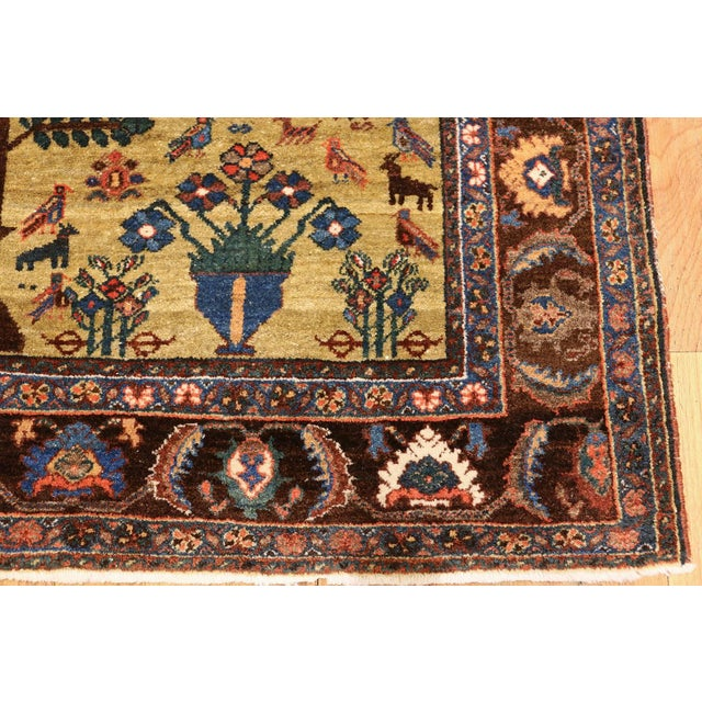 Antique Tabriz Persian Tree of Life Rug - 5′ × 6′10″ For Sale - Image 9 of 10
