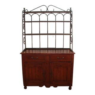 Nichols and Stone Cherry China Hutch Cabinet For Sale