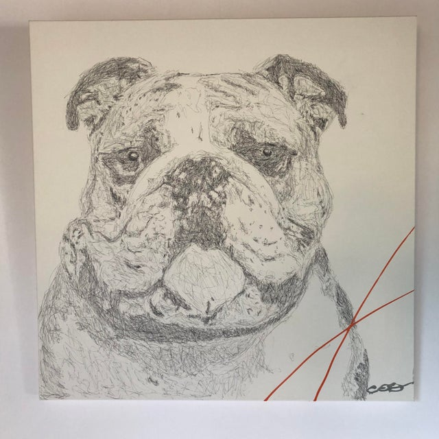 """Carlos E. Ortiz """"Dog Days"""" Contemporary Painting For Sale In Austin - Image 6 of 6"""