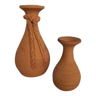 Terra Cotta Vases - A Pair