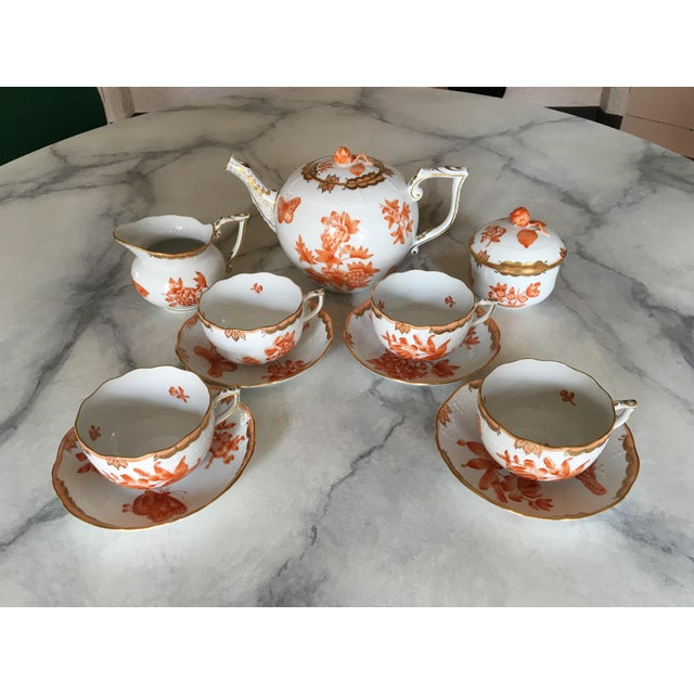 Herend Fortuna Pattern Tea Set - Set of 7 - Image 5 of 11