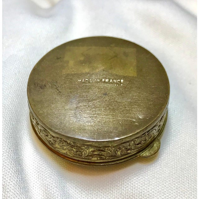 Art Nouveau 1920s French Jeweled and Enameled Powder Compact For Sale - Image 3 of 5