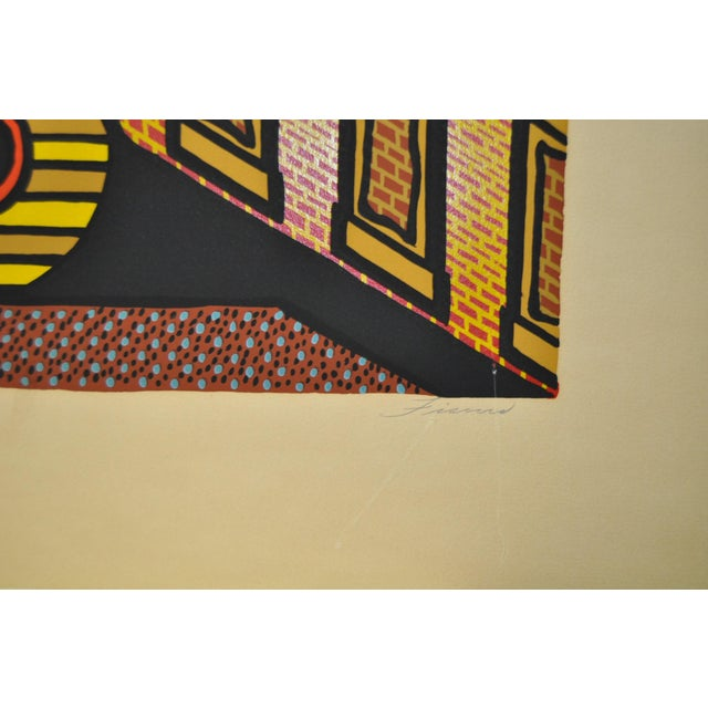 "Abstract 1970s Vintage ""Fort Point"" Limited Edition San Francisco Silkscreen Print by Tom Fricano For Sale - Image 3 of 6"