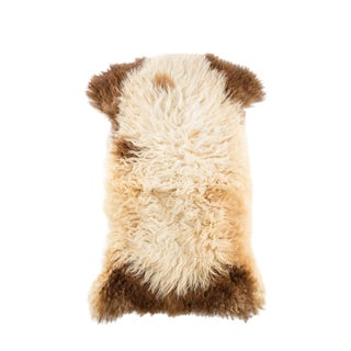 "Long Wool Sheepskin Pelt, Handmade Rug 2'1""x3'4"" For Sale"