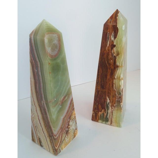 Modern Onyx Obelisks - A Pair - Image 7 of 10