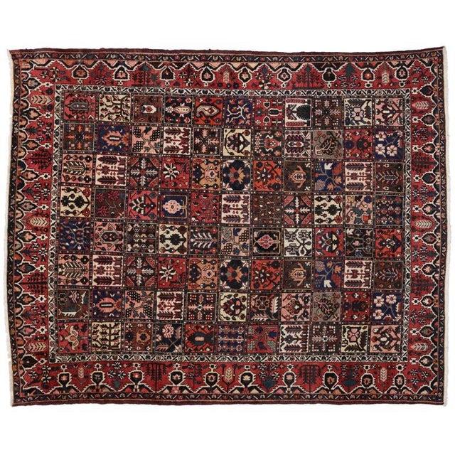 Textile Antique Persian Bakhtiari Rug with Four Season Garden Design For Sale - Image 7 of 8