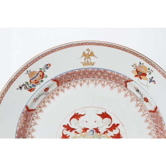 Large 18th Century Chinese Export Armorial Charger For Sale In Dallas - Image 6 of 13