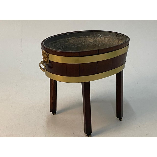 19th Century English Georgian Style Mahogany Cellarette on Stand For Sale - Image 11 of 11