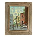 Image of Vintage European Street Scene Painting Signed Ciappa For Sale