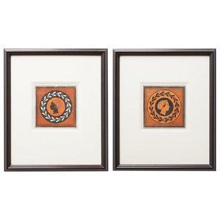 Pair of English William Hamilton Greco-Roman Engravings For Sale