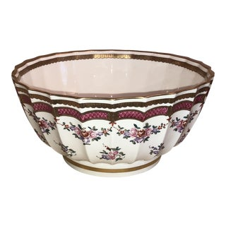 Porcelain De Paris Flower Motif Bowl For Sale