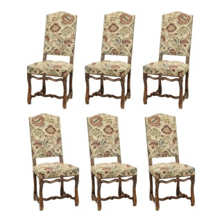 Set of Six Vintage French Dining Chairs For Sale