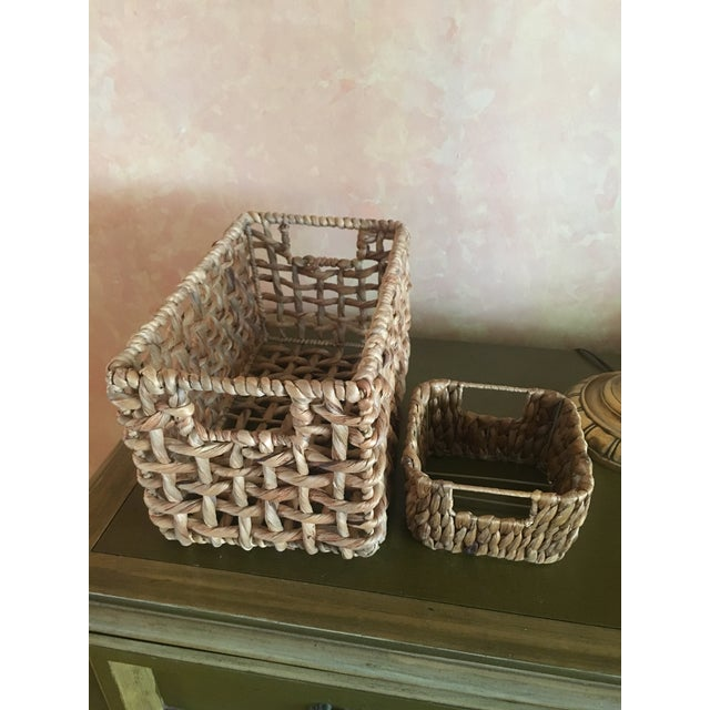 Woven Sea Grass Baskets - Pair - Image 7 of 8