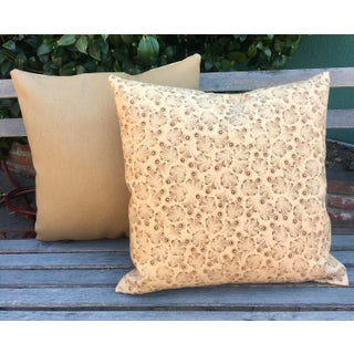 """Toffee """"Feathers"""" Linen Pillows - a Pair Preview"""