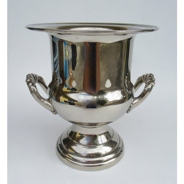 Vintage Silverplate Handled Champagne/Wine Bucket Holder For Sale - Image 13 of 13