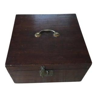 Bates English Mahogany Brass Box