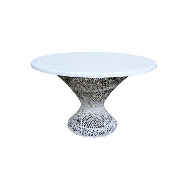 Kravet Upholstered Russell Woodard Spun Fiberglass Patio Dining Set For Sale - Image 9 of 13