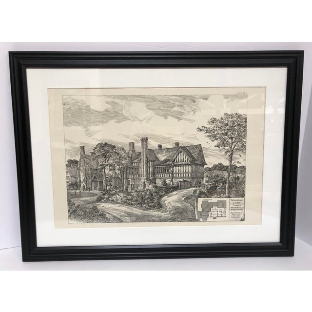 1893 Warnham Lodge Architectural Drawing For Sale - Image 12 of 12