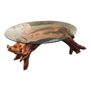 Organic Modern Tree Root Coffee Table For Sale
