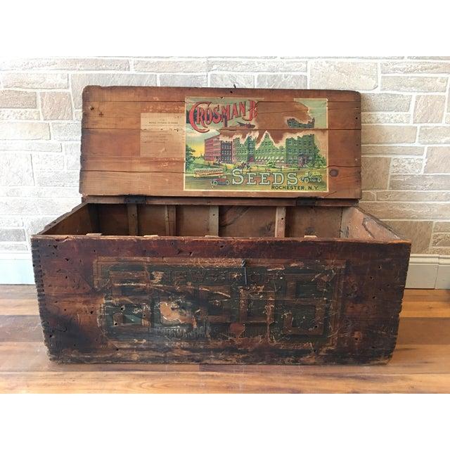 Rare antique vintage large Crosman Bros. seed box from Rochester, NY circa  1922. - 1922 Crosman Bros. Seed Box Chairish