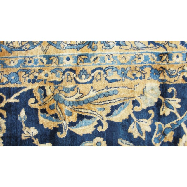 "Traditional Antique Persian Laver Kerman Carpet, 8'5"" X 11'7"" For Sale - Image 3 of 9"