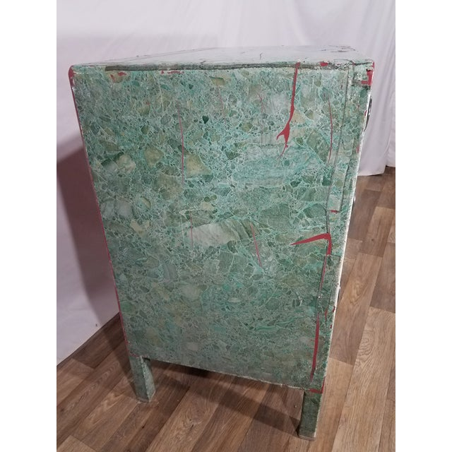 American Simmons 3-Drawer Steel Green Granite Chest Of Drawers For Sale - Image 3 of 11