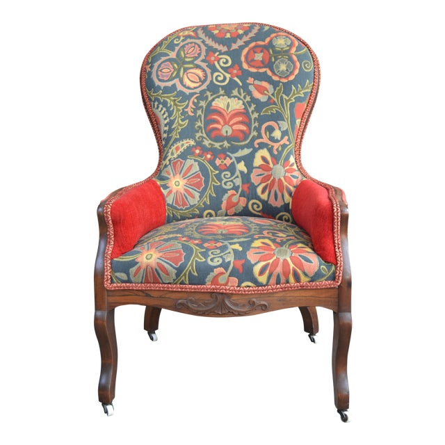 Pride and Paisley Armchair For Sale