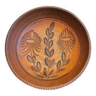 Eiwa? Keramik Footed Sgraffito 'Klinker' Bowl For Sale