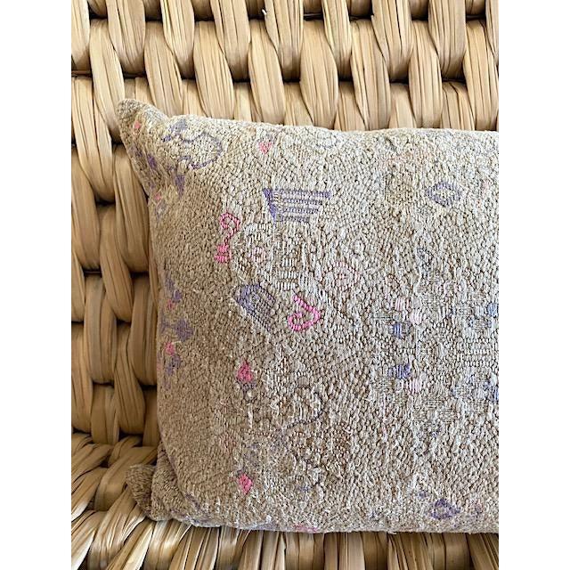 Farmhouse Vintage Minority Tribe Lumbar Throw Pillow For Sale - Image 3 of 5