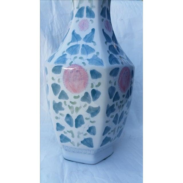 Hand Painted Peonies Porcelain Vase - Image 5 of 6