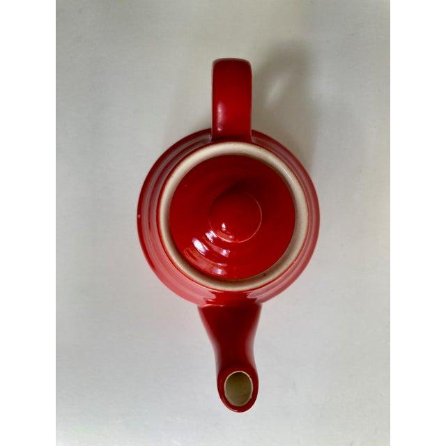 Universal Cambridge Red Ceramic Beehive Tea Pot For Sale - Image 9 of 13