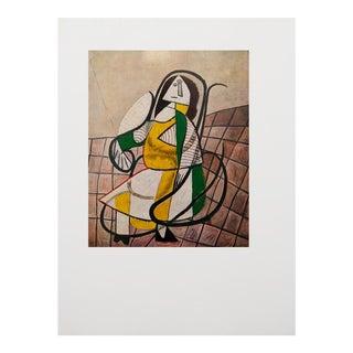 1971 Parisian Picasso Femme Assise Dans Un Rocking Chair Photogravure
