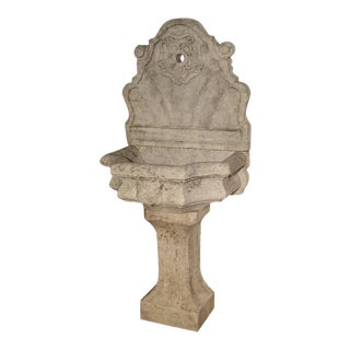 Code 718-19 Carved Marble Wall Fountain From Veneto Italy For Sale