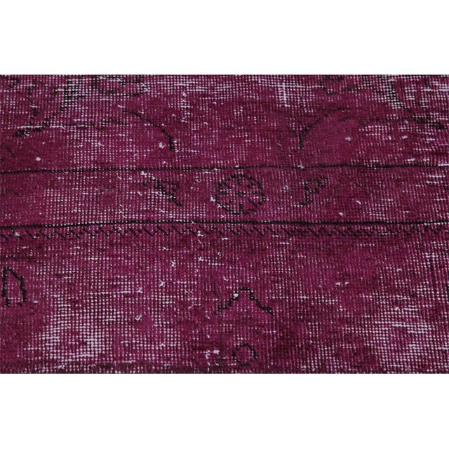 """2010s Modern Industrial Style Distressed Over-Dyed Persian Tabriz Rug - 9'3"""" x 12'1"""" For Sale - Image 5 of 13"""