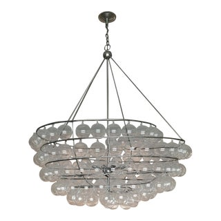 Currey & Co. Glass Bubbles Spiral Chandelier For Sale