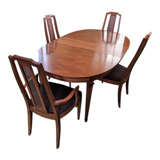Vintage Mid-Century Italian Neoclassic Dining Set For Sale