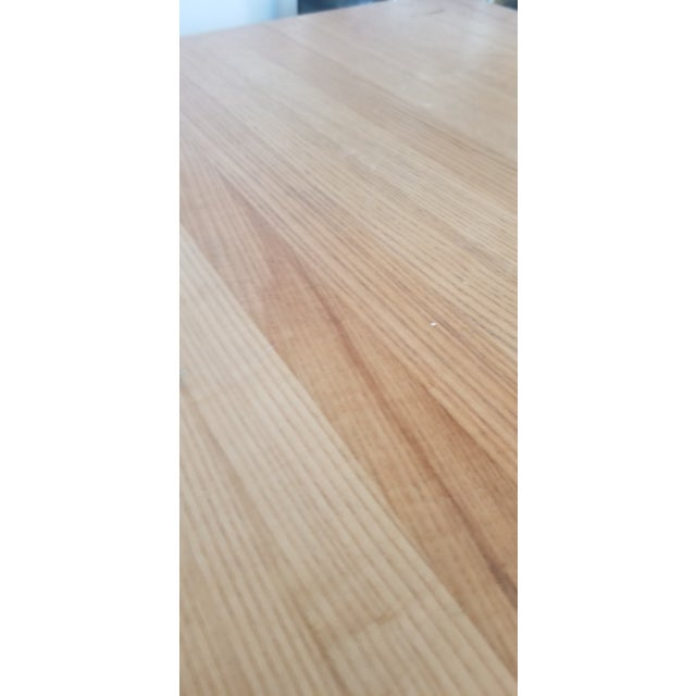 Wood Small Butcher Block Tall Bar/ Island Table For Sale - Image 7 of 9