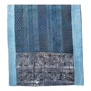 Micro Embroidered Tribal Silk Table Runner For Sale