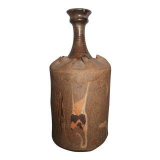 James McAnallen Bottle Style Pottery Vase For Sale