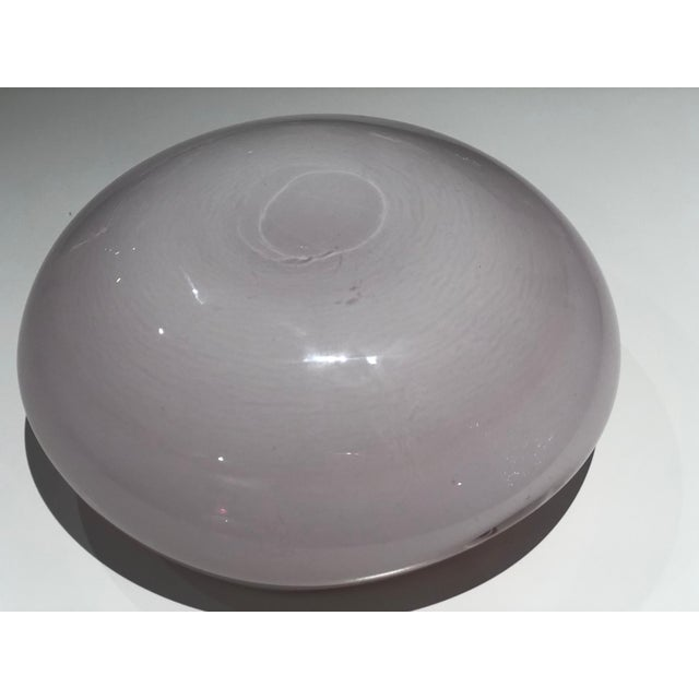Glass Italian Vintage Murano Glass Bowl Attributed to Seguso Vetri d'Arte, 1950s For Sale - Image 7 of 13