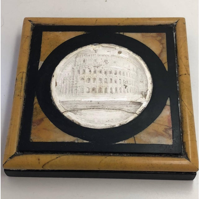 Grand Tour Late 19th Century Grand Tour Inlaid Specimen Marble Paperweight For Sale - Image 3 of 5