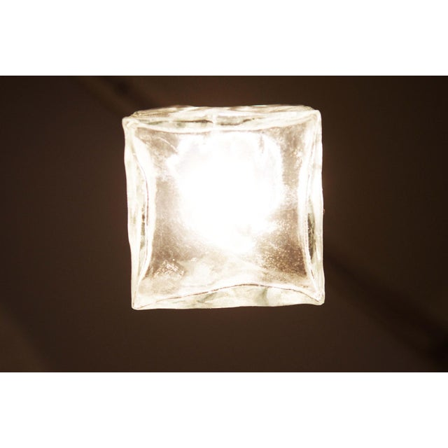 Chrome Vintage glass and steel wall lamp by JT Kalmar For Sale - Image 7 of 11