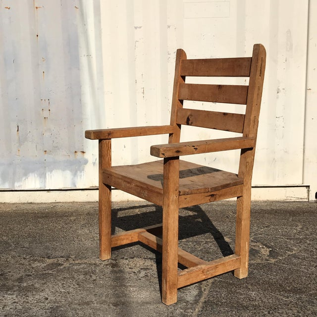 1990s Hand-Made Rustic Chair For Sale - Image 10 of 10